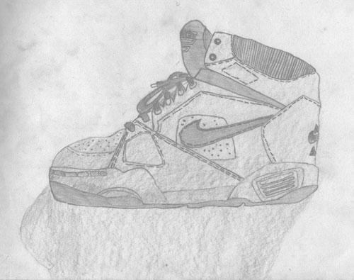 Drawn shoe old shoe #1