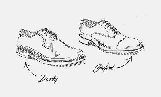 Drawn shoe oxford shoe #3