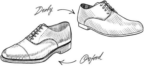 Drawn shoe oxford shoe #8