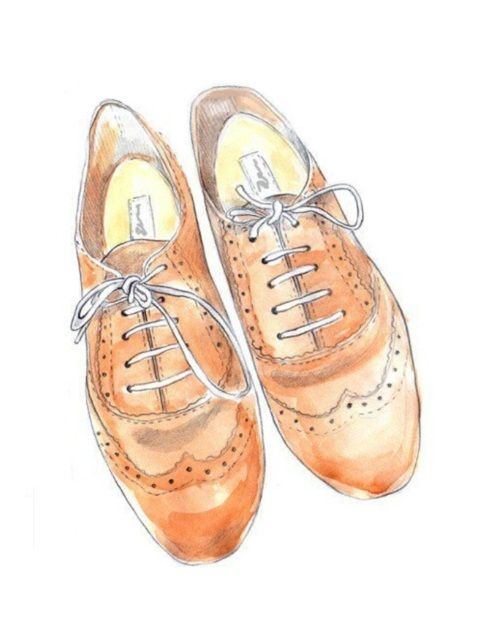Drawn shoe oxford shoe #4