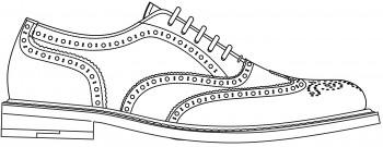 Drawn shoe oxford shoe #10