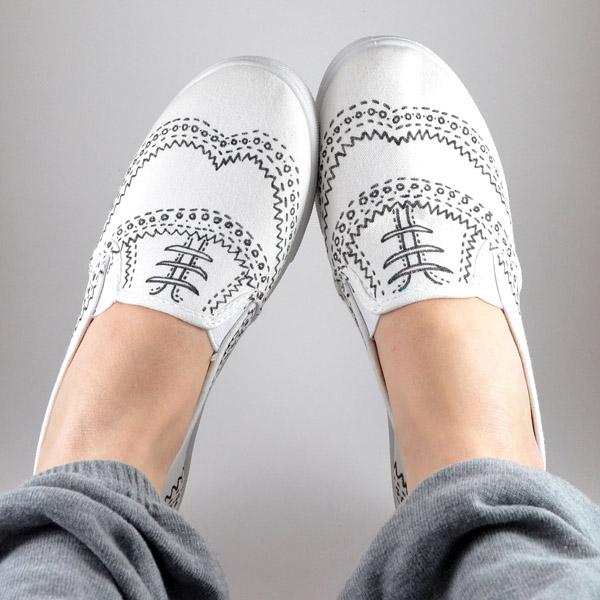 Drawn shoe oxford shoe #12