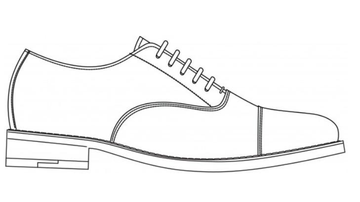 Drawn shoe oxford shoe #1
