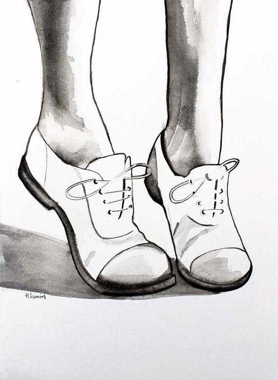 Drawn shoe oxford shoe #7