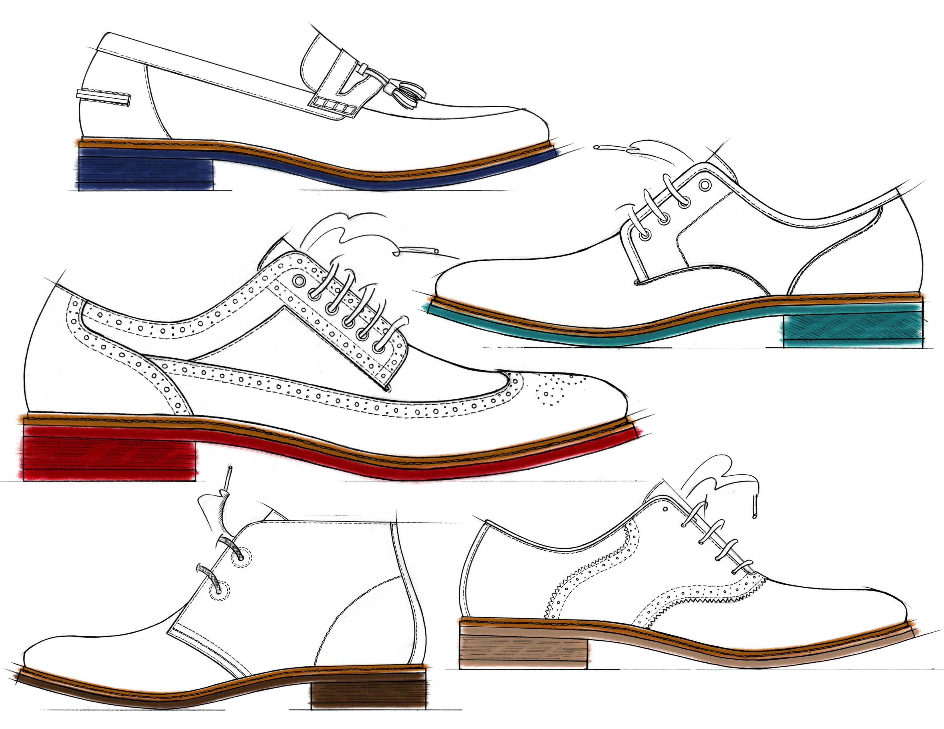 Drawn shoe oxford shoe #5