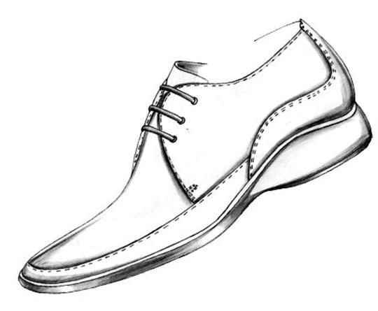 Drawn shoe oxford shoe #2