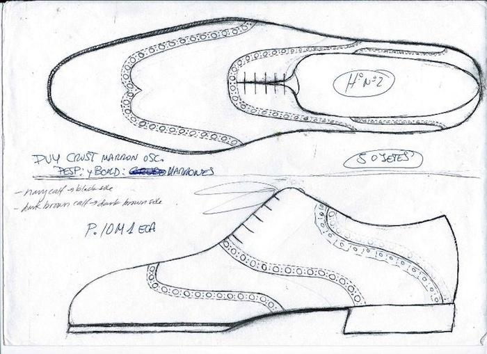 Drawn shoe oxford shoe #9