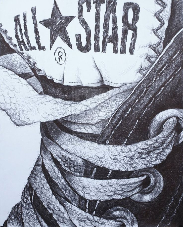 Drawn converse artistic By Star 25+ The best