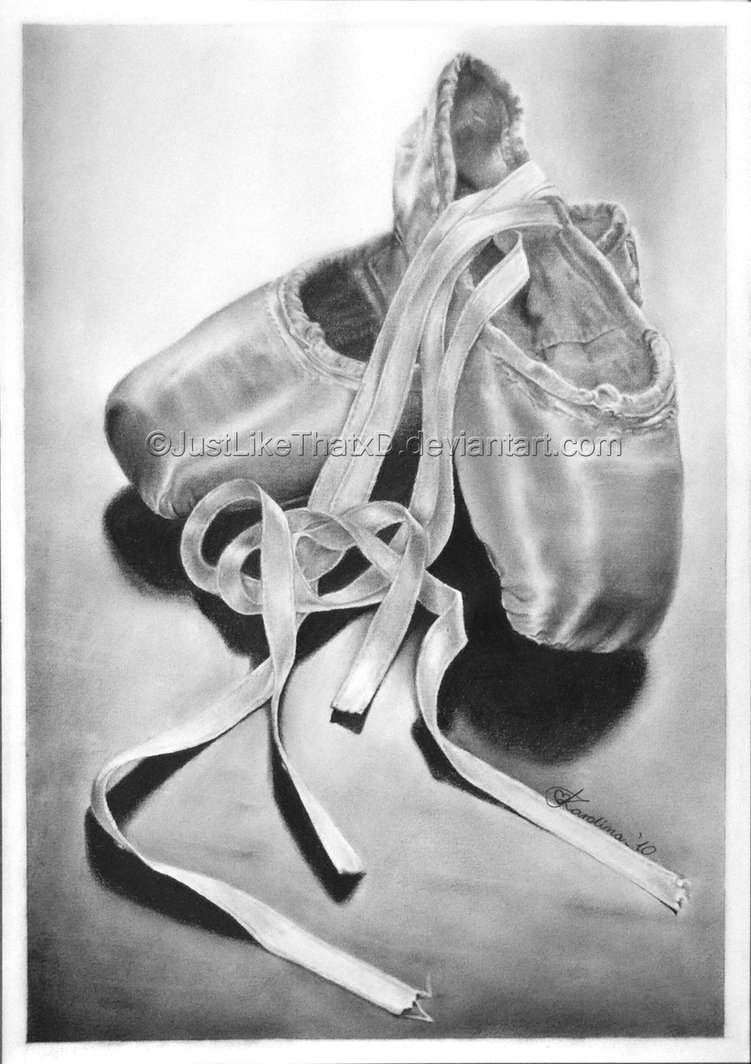 Drawn ballerina ballet slipper Justlikethatxd Pointe Drawing Shoes Sketches