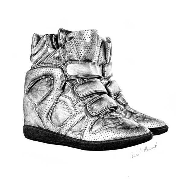Drawn shoe pencil Best images 113  Pinterest
