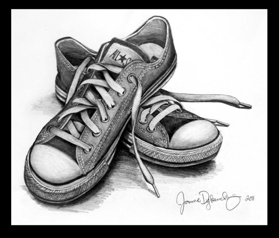 Drawn shoe pencil ~mimie8 Life Easy Drawing Still