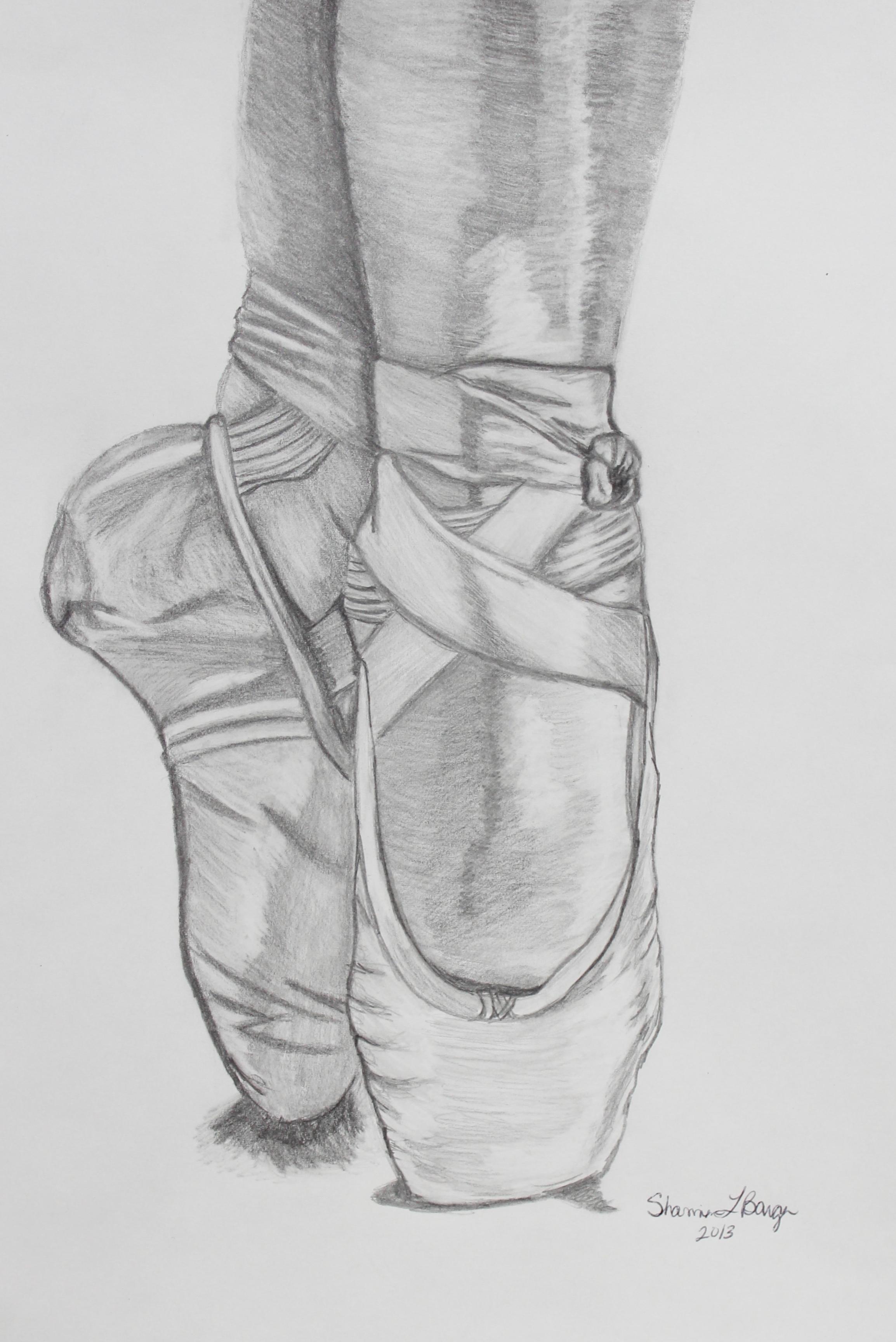 Drawn shoe pencil Pencil Pinteres… Ballerina Shoes …
