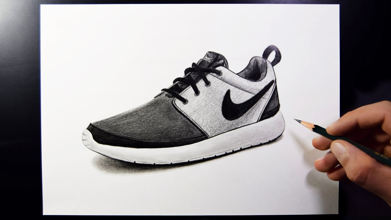 Drawn shoe pencil Draw Nike (Speed Shoes To