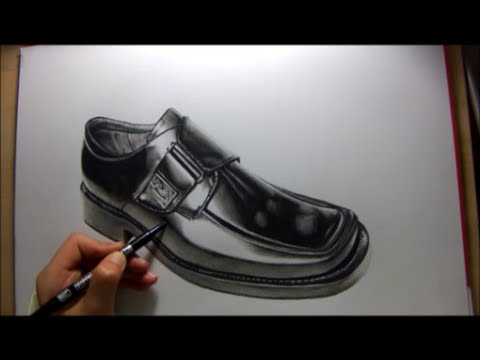 Drawn shoe pencil sketch Pencil a واقعي of speed