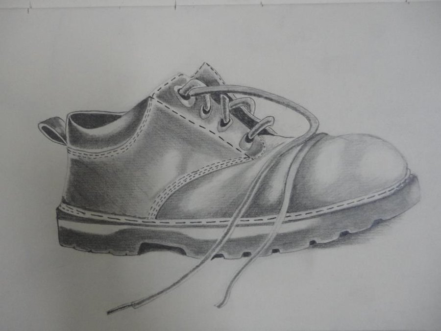 Drawn shoe pencil sketch CJ by Zac CJ on