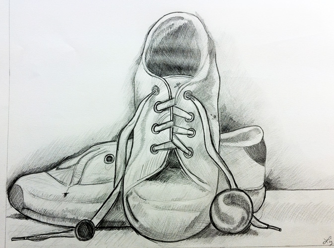 Drawn shoe pencil sketch And Graphic Shoes Web shoes