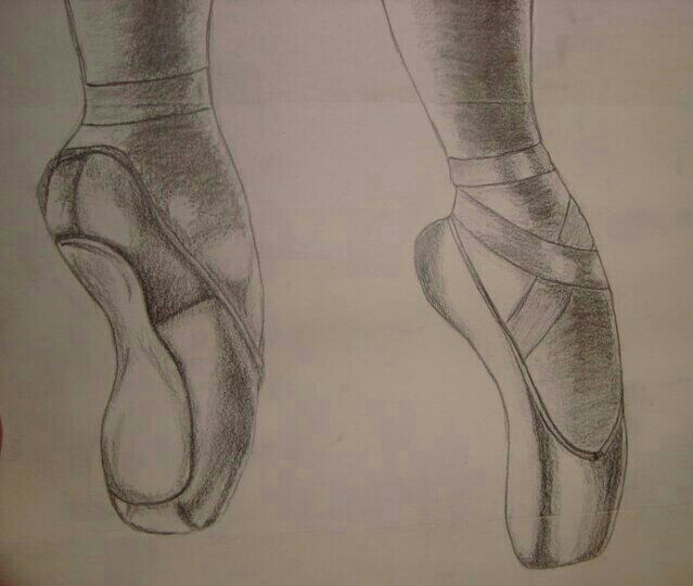 Drawn shoe pencil sketch Ballet Sketch Shoes Ballet and