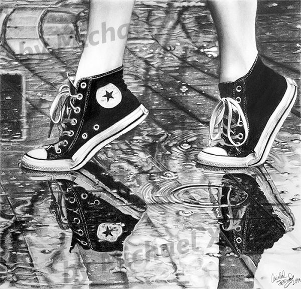 Drawn shoe pencil sketch Pinterest the in images rain