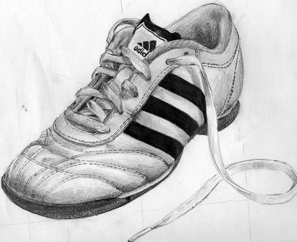 Drawn shoe pencil sketch By Drawing Patiunique by on
