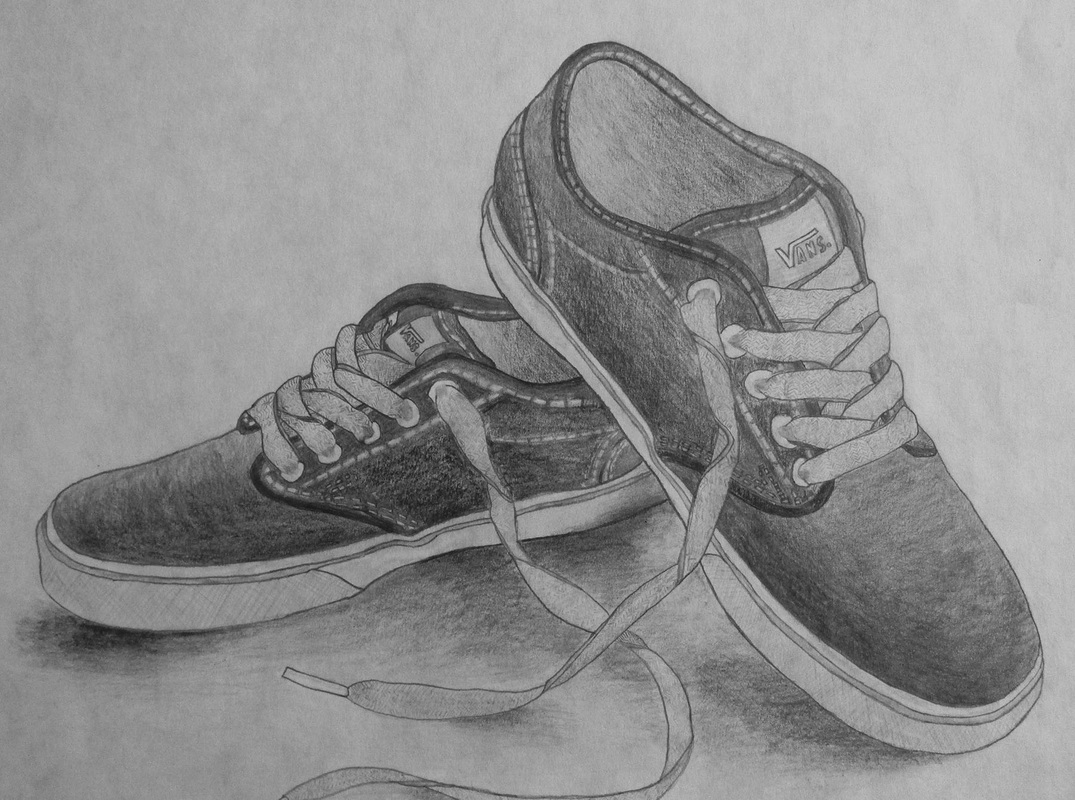 Drawn shoe pencil sketch Art the drawing of of