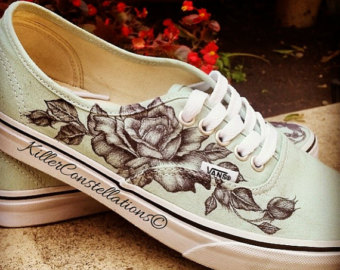 Drawn shoe personalized Drawn Design vans Etsy Rose