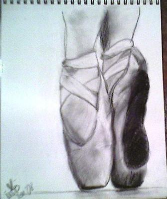 Drawn shoe pointe shoe Shoes Drawing  Pointe