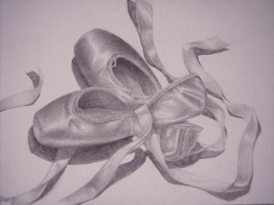 Drawn shoe pointe shoe Ballet and School Ballet Ballet_Pointe_Shoes
