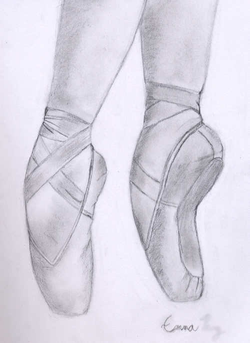 Drawn shoe pointe shoe Wanna Shoe this something Sketch