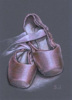 Drawn shoe pointe shoe Shoes Pin and without and