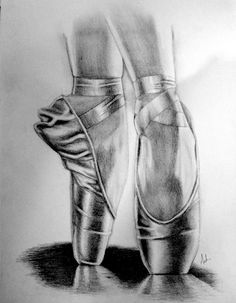 Drawn shoe pointe shoe And Pin ballerina and pointe
