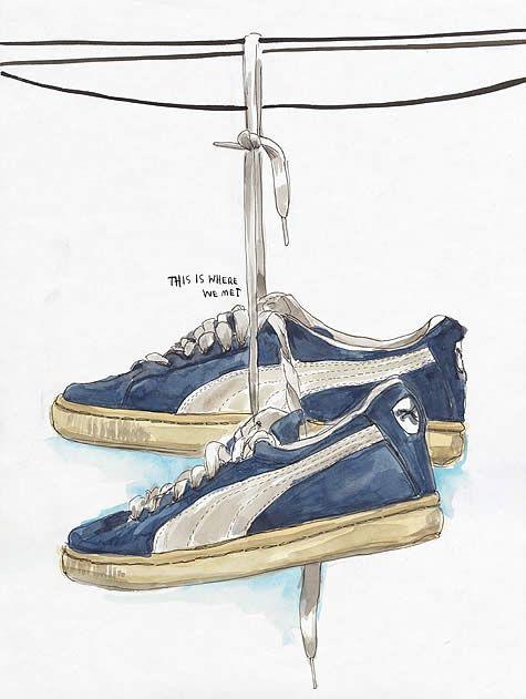 Drawn shoe puma Shoes See Pinterest illustrations Anna