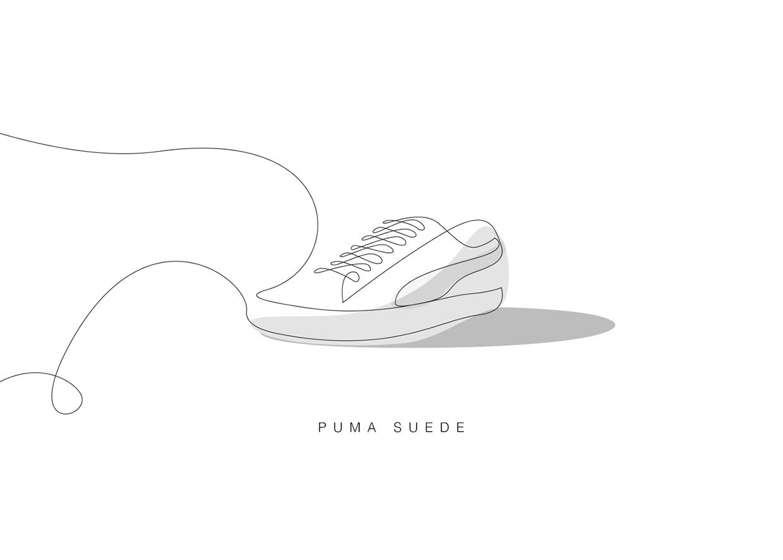 Drawn shoe puma Sneakers Sneakers One Memorable Classic
