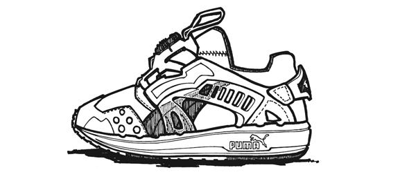 Drawn shoe puma Draw Air Preview Vintage Blaze