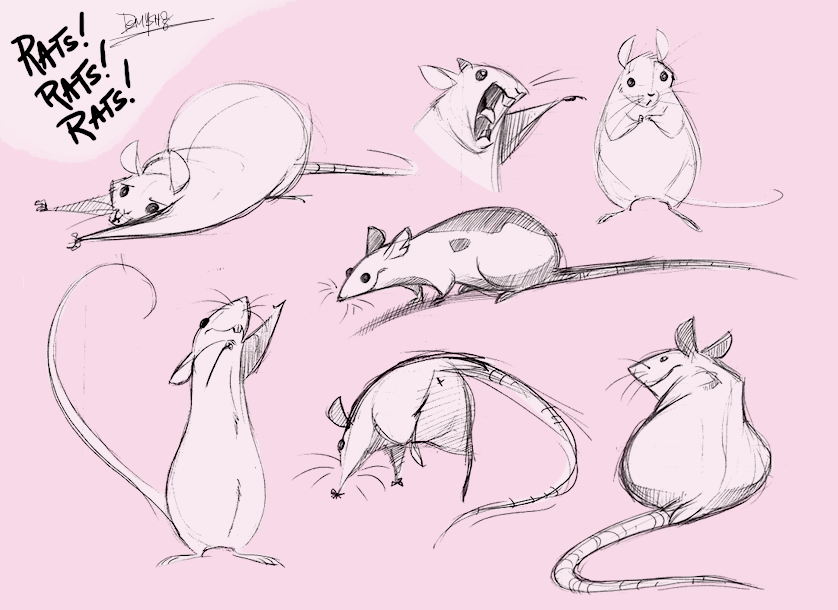 Drawn rodent rat Cute Ratties rat *Demonysh love