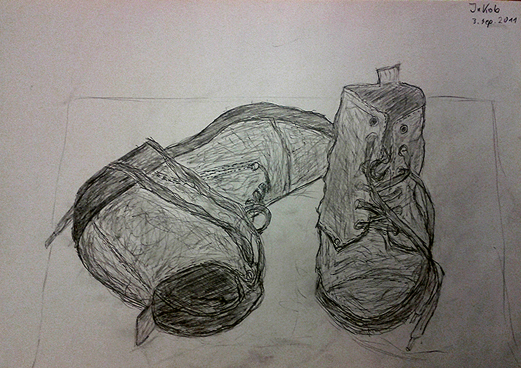Drawn shoe realistic Rossner Corner realistic from drawings