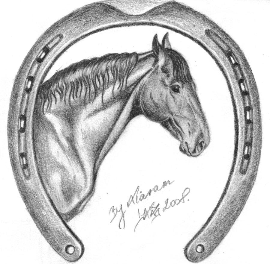 Drawn horseshoe Realistic Horseshoe Realistic Photo Drawing