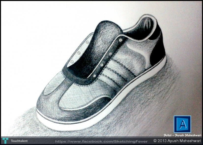 Drawn shoe realistic Pencil Fever Ayush 36 Object