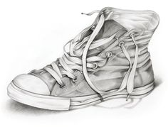 Drawn shoe realistic & 35 of for Front