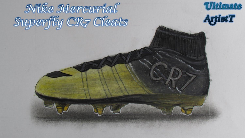 Drawn shoe realistic CR7
