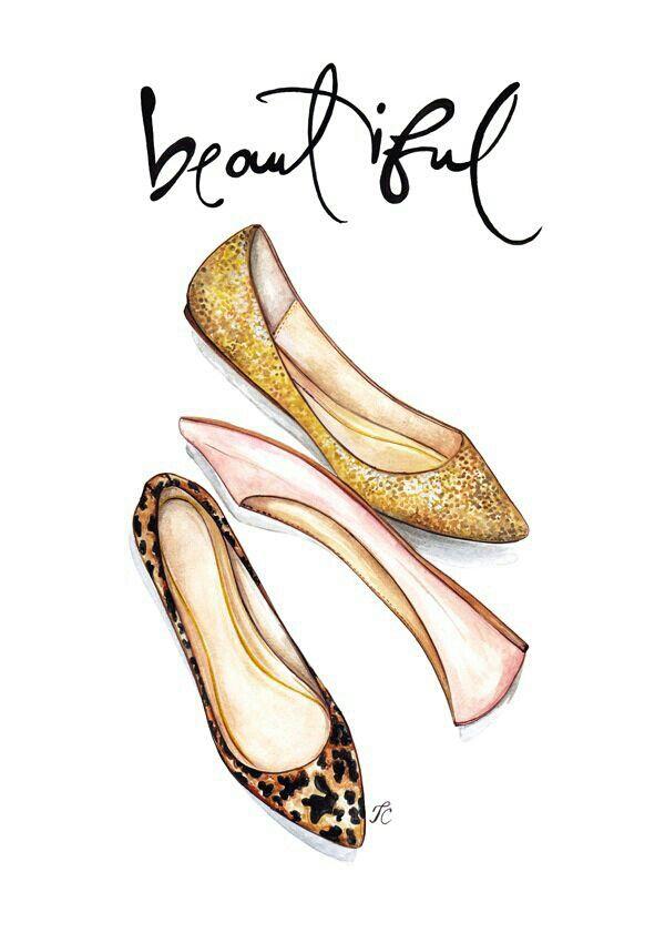 Drawn shoe sapatos O Fashion more Pin on