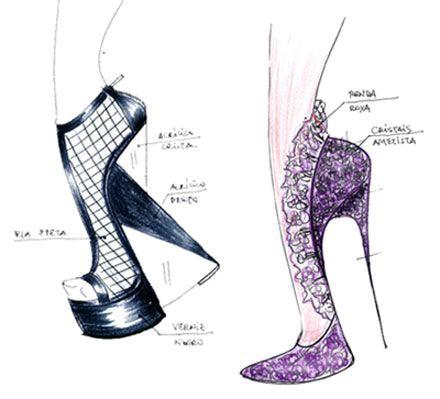 Drawn shoe sapatos Shoes ilustração de desenho moda