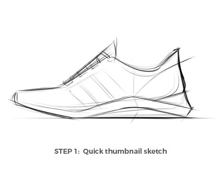 Drawn shoe sapatos — design Shoes Draw with