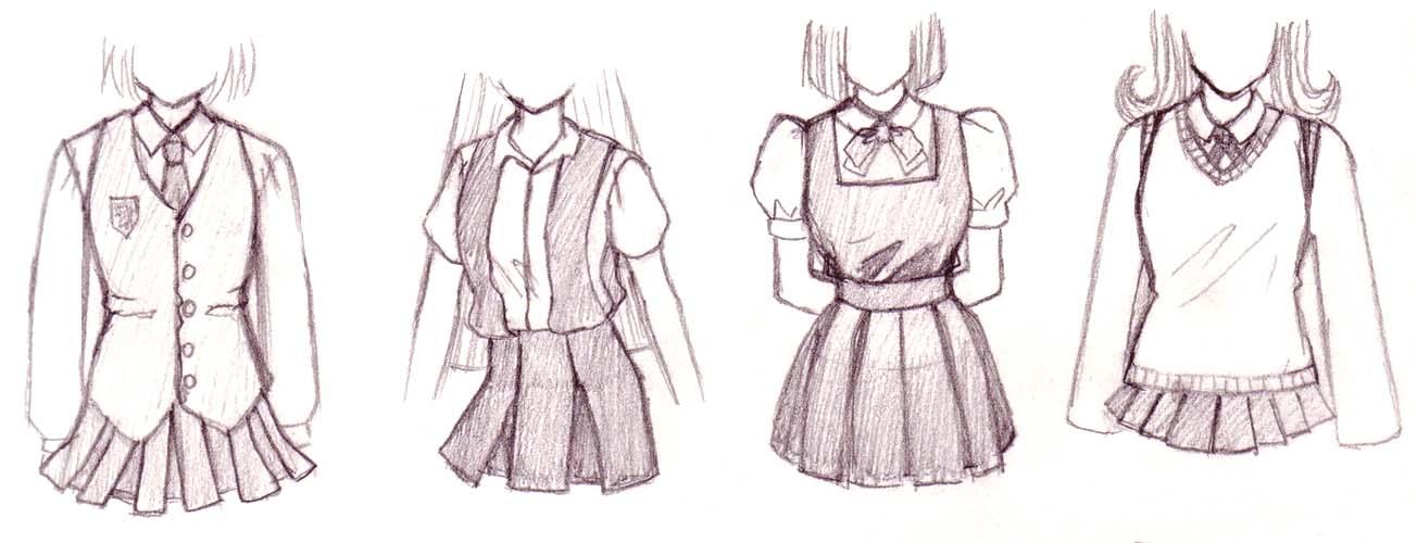 Drawn shoe school uniform Uniform outfits the common Sailor