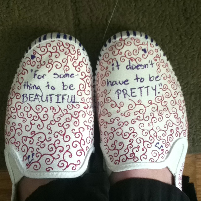 Drawn shoe sharpie On have and with :