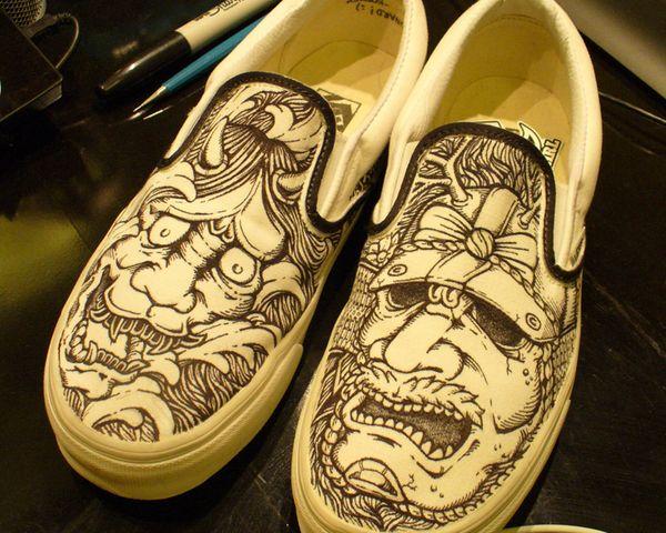 Drawn shoe sharpie Art Paolo Sharpie Painted best