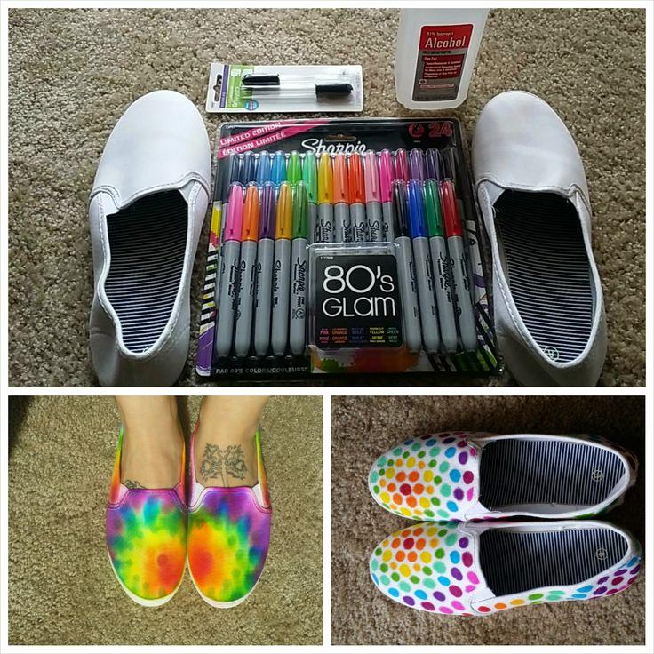 Drawn shoe sharpie Nope Dye wash But 25+