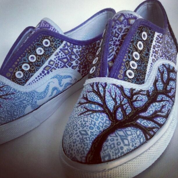 Drawn shoe sharpie : and Art sharpie