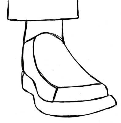 Drawn shoe simple Simple sole Figure thick of