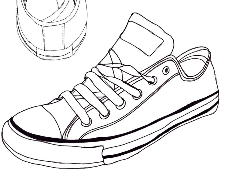 Drawn shoe simple Converse drawing Haunted Pinterest Drawing