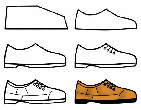 Drawn shoe simple Drawing images Drawing than front